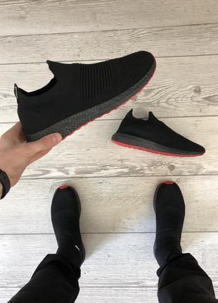 Черные летние кроссовки в сетку