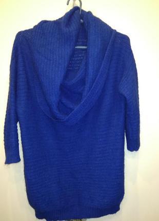 Воздушный мохеровый свитер benetton с открытыми плечами