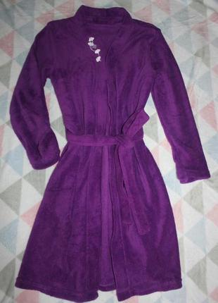 Новый фиолетовый плюшевый халатик ив роше s m