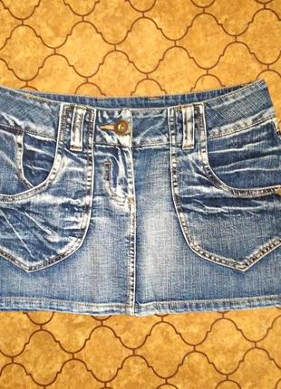 Стильная джинсовая мини юбка от amisu denim