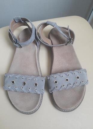 38 38, 5 p. clarks замшевые босоножки сандалии