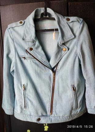Крутая джинсовая куртка косуха gap