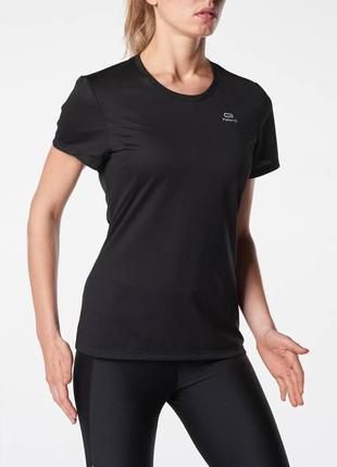 Легкая спортивная женская футболка kalenji р. xl. сток, черная