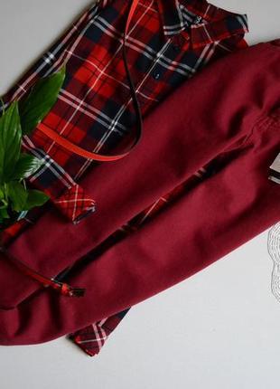 Zara джинси висока посадка вінтажні винного кольору