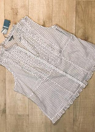 """Очень красивая блуза в горошек 100% хлопок """"marks & spencer"""""""