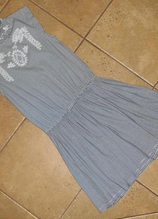 Платье сарафан трикотажное next 10 лет, 140 см, оригинал
