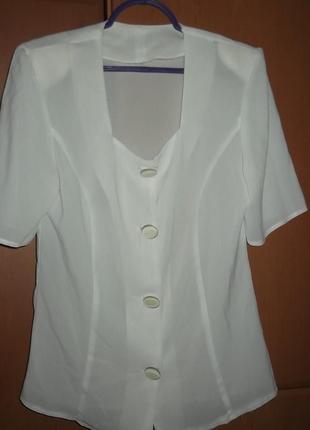 Блузка, легкая и приталенная, l, 48