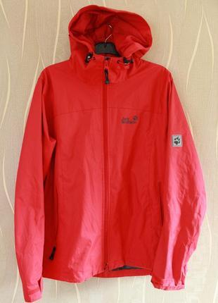 Неповторимая женская красная весеняя куртка jack wolfskin