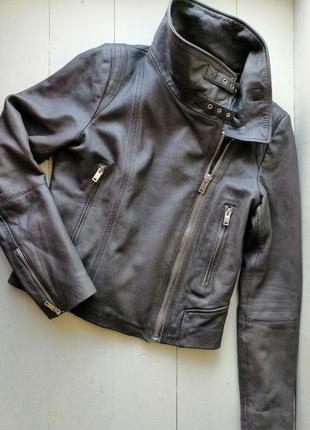 Mango кожаная куртка, косуха, mng