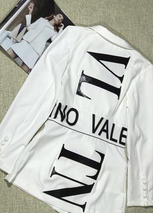 Пиджак в стиле valentino в чёрном цвете