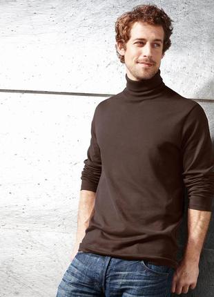 Гольф, мужской, демисезонный, коричневый, большой, водолазка, размер 52