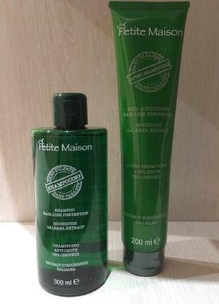 Безсульфатний шампунь та кондиціонер для пошкодженого волосся, perite maison unice, 300 мл