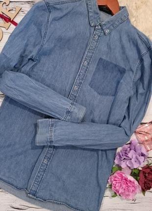 Джинсовая рубашка с росписью3 фото