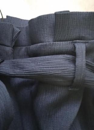 Шикарные брюки кюлоты с оборками на поясе от river island5 фото
