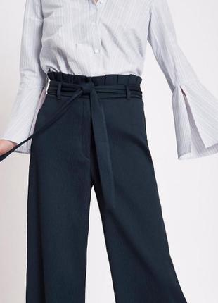 Шикарные брюки кюлоты с оборками на поясе от river island8 фото