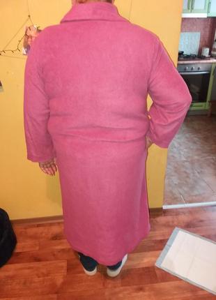 Бордовый флисовый халат
