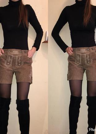 Новые красивые короткие женские шорты из натурального замша waldschuts