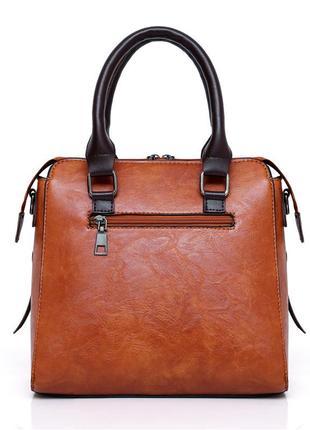 Кожаная сумка женская дизайнерская сумка-тоут  высокое качество + подарок