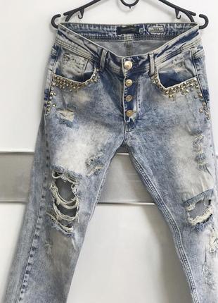 Стильные джинсы dishe 26 размер