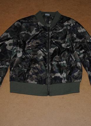 Select дутый бомбер camo женская куртка