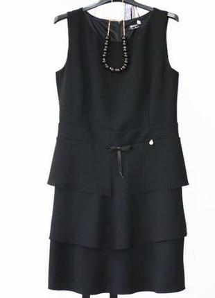 Черное платье +  бусы (размер s и м)