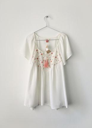 Новая белая блузка свободного кроя falmer heritage блуза с декором