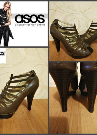 Открытые туфли на каблуке от asos, оригинал , р. 39