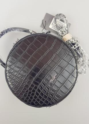 #019 johnny black круглая двусторонняя сумка кроссбоди