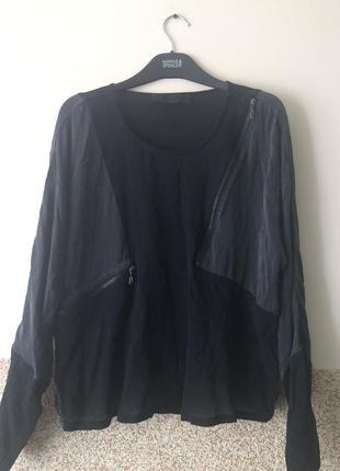 Tusnelda bloch стильная шелковая блуза ,кофта  с замочками и каранчиком