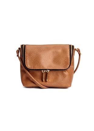Обновка 💔 маленькая сумочка на ремне коньячного цвета  h&m коричневая сумка кросс боди