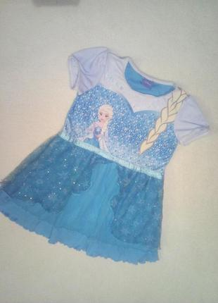 Новогодние платьице эльзы для девочки на 3/4года