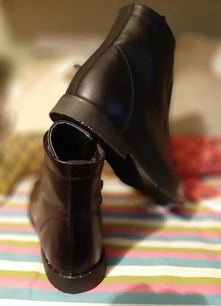 Демисезонные кожаные ботинки 39 р4 фото