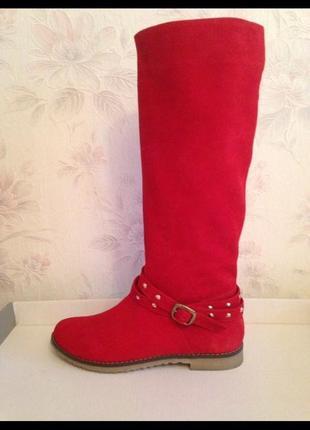 Крутые красные сапоги2 фото