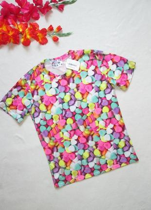 Суперовая футболка принт сладкие сердечки i mook kk style