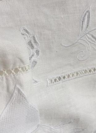 Белая блуза next лён размер 10uk наш 44-46-485 фото