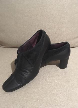 Gabor,черные кожаные туфли