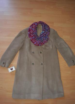 Пальто шерстяное демисезон, шерстяне пальто демисезонне 48(56)1 фото