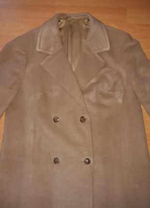 Пальто шерстяное демисезон, шерстяне пальто демисезонне 48(56)2 фото