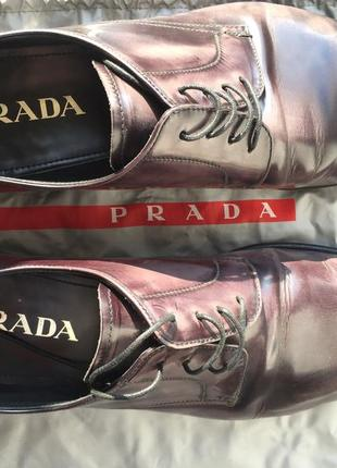 Мужские лакированные туфли prada4 фото