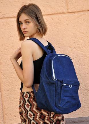Джинсовый рюкзак mango