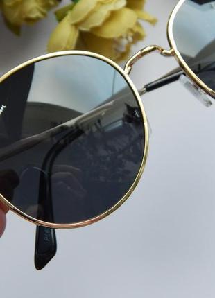 Солнцезащитные очки - уф защита - черные в золоте реальные фотографии!!5 фото