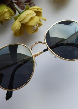 Солнцезащитные очки - уф защита - черные в золоте реальные фотографии!!3 фото