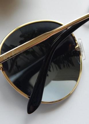 Солнцезащитные очки - уф защита - черные в золоте реальные фотографии!!4 фото