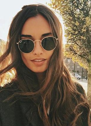 Солнцезащитные очки - уф защита - черные в золоте реальные фотографии!!6 фото