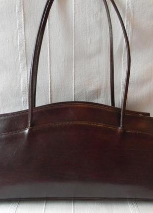 Кожаная сумка коричневая от hdgn