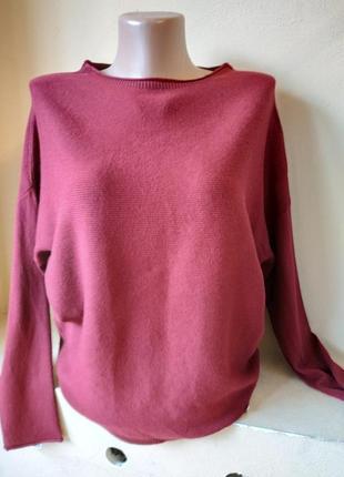 Свитер цвета марсала кашемировый свитер шерстяной свитер