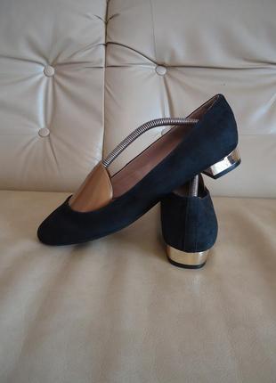 Кожаные замшевые женские туфли marks & spencer р. 40 - 40,5