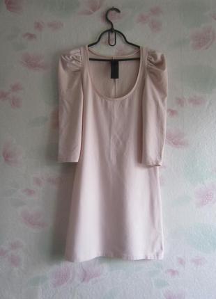 Крутое/нежно-розовое платье/ с эффектными/ рукавами/ от zara trafaluc collection