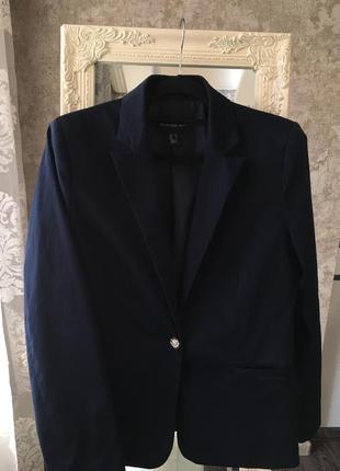 Темно-синий пиджак mango2 фото