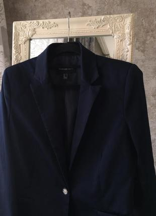 Темно-синий пиджак mango3 фото
